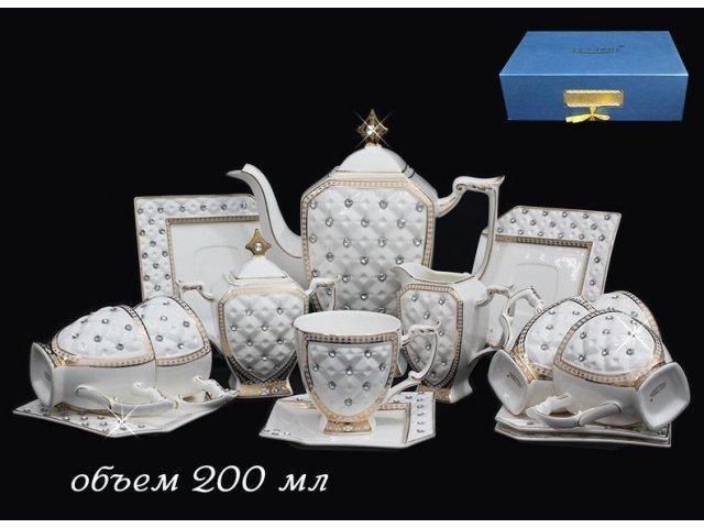 Чайный сервиз Lenardi Императорский на 6 персон 15 предметов в подарочной упаковке 200мл. Фарфор