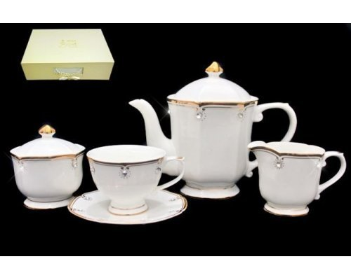 Чайный сервиз Lenardi на 6 персон 17 предметов в подарочной упаковке Фарфор