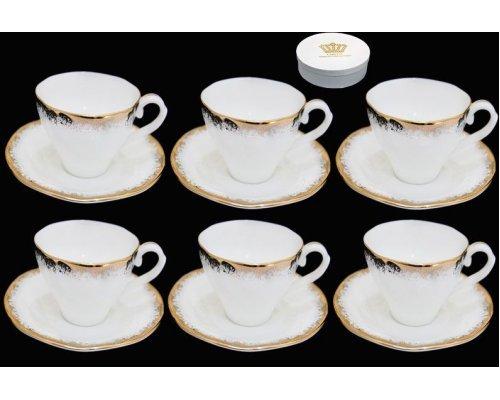 Кофейный набор Lenardi на 6 персон 12 предметов в подарочной упаковке Фарфор