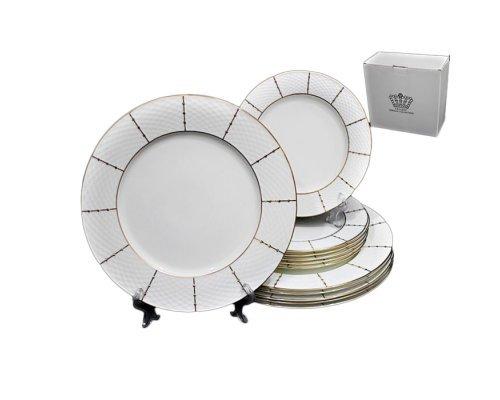Набор из 12 тарелок Lenardi Президентский в подарочной упаковке 20 см 27 см