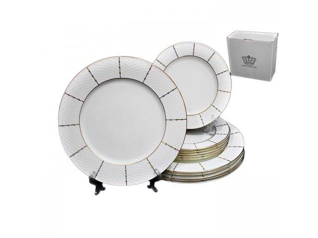 Набор из 12 тарелок Lenardi Президентский в подарочной упаковке (20см и 27см) Фарфор