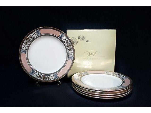 Набор из 6 тарелок 22см. в подарочной упаковке Lenardi Verona Костяной фарфор
