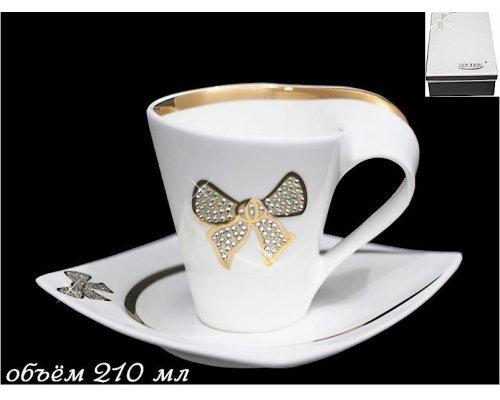 Чайный набор Lenardi Бантик 2предмета 210мл. в подарочной упаковке Фарфор