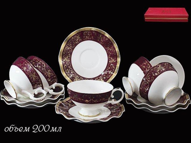Чайный набор Lenardi Великолепный век на 6 персон 12 предметов в подарочной упаковке