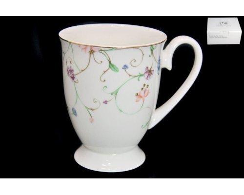 Кружка Lenardi Английский сад в подарочной упаковке350 мл Костяной фарфор
