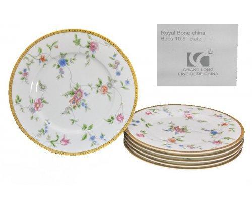 Набор из 6 тарелок 27 см Lenardi Цветочная поляна