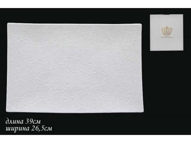 Блюдо Белая роза Lenardi 39 см