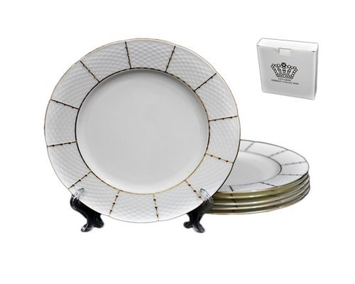 Набор 6 тарелок 16см Lenardi Президентский в подарочной упаковке Фарфор