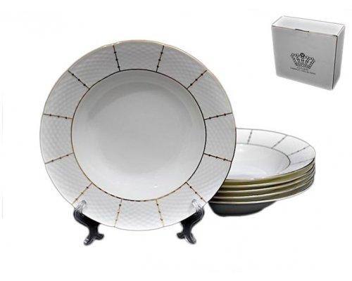 Набор 6 глубоких тарелок 23см Lenardi Президентский в подарочной упаковке Фарфор