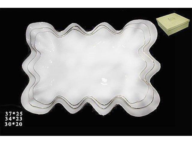 Набор из 3 блюд (37 см 0,34 см 0,3 см ) Lucia в подарочной упаковке. Фарфор