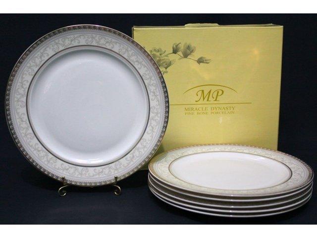 Набор из 6 тарелок 27см. Lenardi Элегант в подарочной упаковке Костяной фарфор