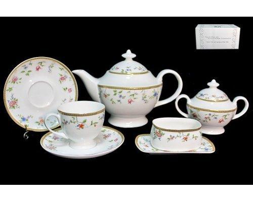 Чайный сервиз Lenardi Цветочная поляна 18 предметов