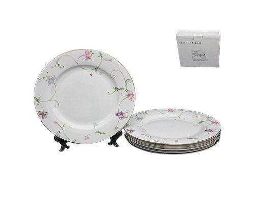 Набор из 6 тарелок 21 см Lenardi Английский сад в подарочной упаковке
