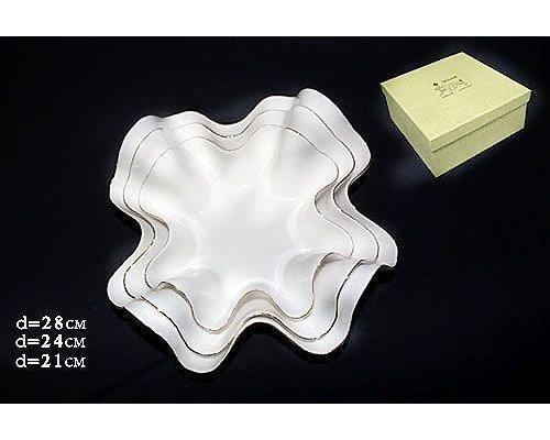 Набор из 3 салатников Lenardi Lucia в подарочной упаковке (21см.,28см.,24см.) Фарфор