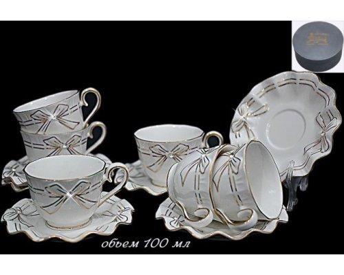Кофейный набор Lenardi Подарочный на 6 персон 12 предметов в подарочной упаковке