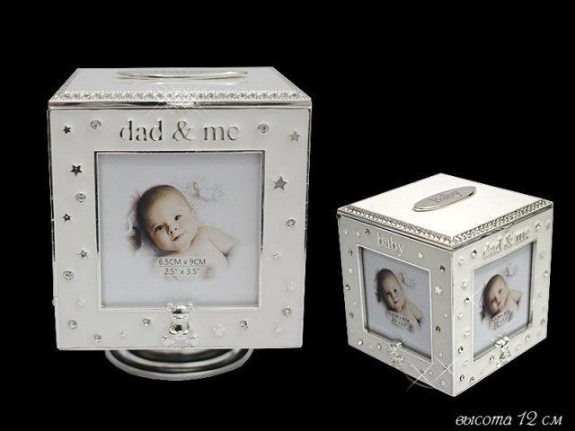 Вращающаяся музыкальная шкатулка/фоторамка Lenardi 12см в подарочной упаковке