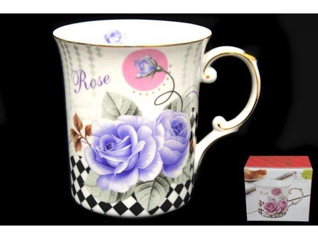 Кружка 500мл Lenardi Чайная роза в подарочной упаковке Фарфор