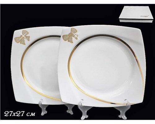 Набор из 2-х тарелок 27см в подарочной упаковке Lenardi Бантик Фарфор