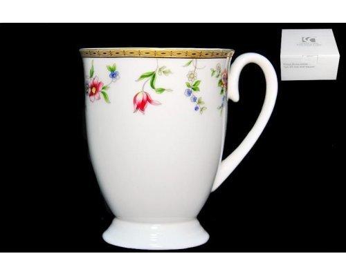 Кружка Lenardi Цветочная поляна в подарочной упаковке350мл Костяной фарфор