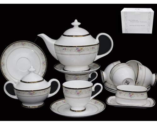 Чайный сервиз Lenardi Лагуна на 6 персон 18 предметов в подарочной упаковке