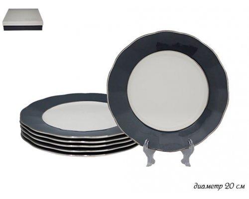 Набор из 6 тарелок 20 см Gray Lenardi
