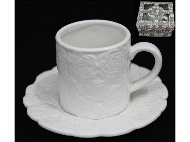 Чашка с блюдцем Lenardi Долина роз в подарочной упаковке