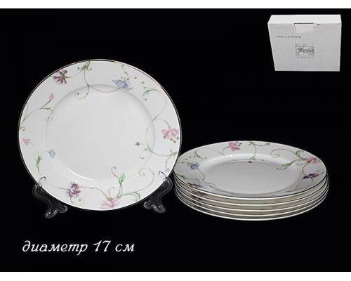 Набор 6 тарелок 17см Lenardi Английский сад в подарочной упаковке