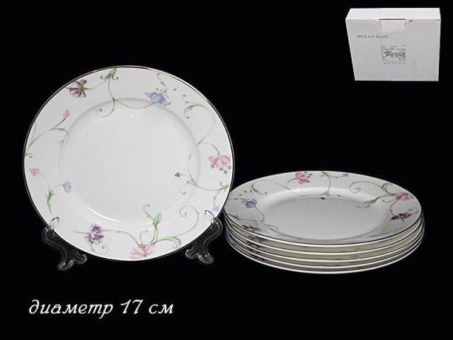 Набор 6 тарелок 17 см Lenardi Английский сад в подарочной упаковке