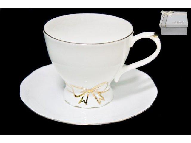 Чашка с блюдцем в подарочной упаковке. Фарфор
