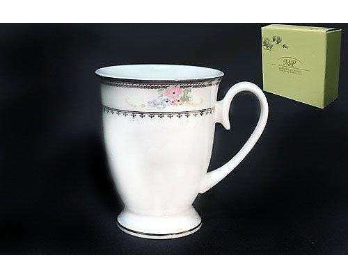 Кружка в подарочной упаковке 350мл Lenardi Райский сад Костяной фарфор