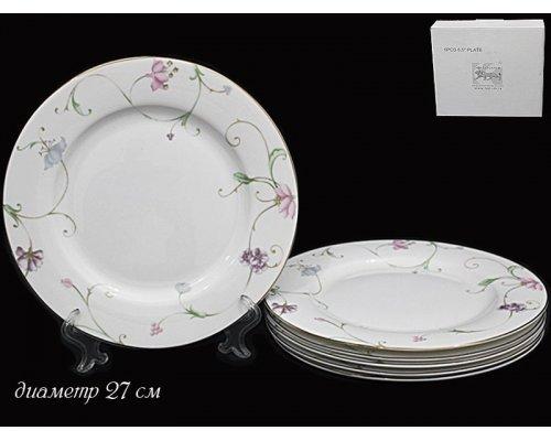 Набор 6 тарелок 27 см Lenardi Английский сад в подарочной упаковке