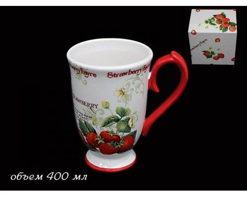 Кружка 300мл Земляника в подарочной упаковке Керамика