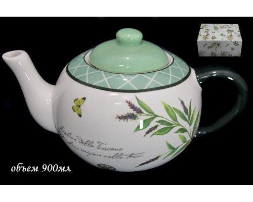 Чайник заварочный Lenardi Рим в подарочной упаковке 900мл Керамика