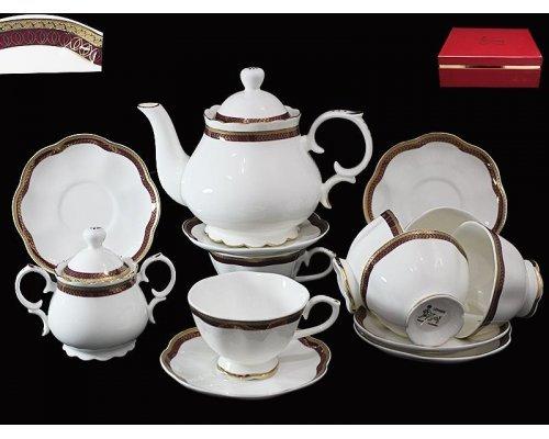 Чайный сервиз Lenardi Шаркон на 6 персон 16 предметов в подарочной упаковке