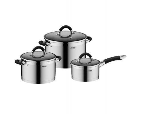 Набор наплитной посуды из нержавеющей стали, 6 пр. NADOBA серия OLINA