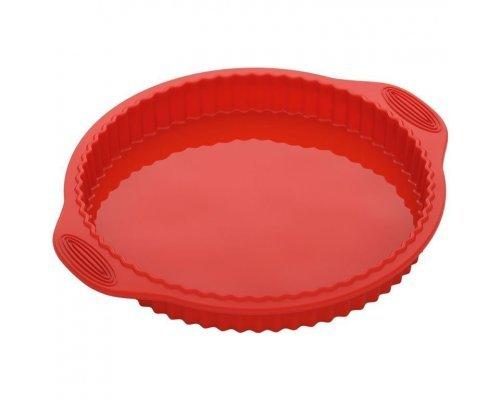 Форма круглая для пирога/пиццы, силиконовая, 32x28x3,3 см NADOBA серия MÍLA