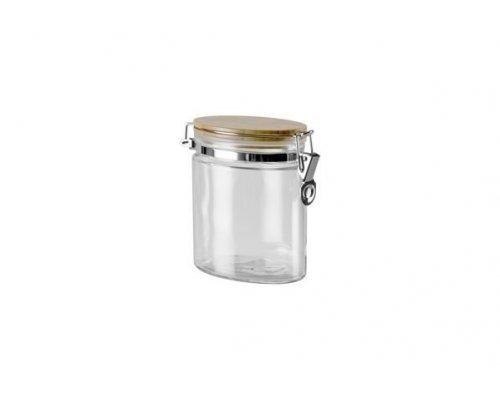 Ёмкость для сыпучих продуктов с крышкой из бамбука с замком, 0,8 л NADOBA серия DUSANA