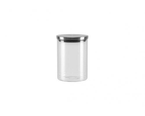 Ёмкость для сыпучих продуктов со стальной крышкой, 0,7 л NADOBA серия SILVANA
