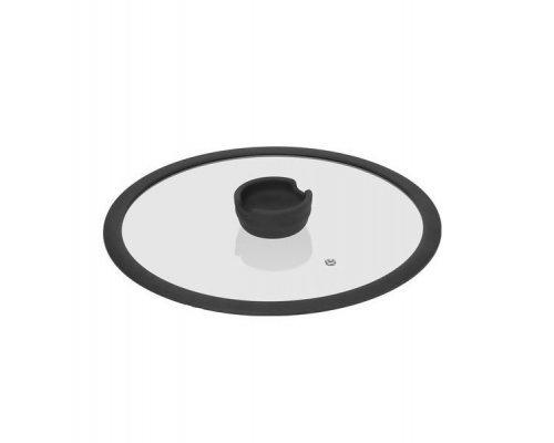 Стеклянная крышка с силиконовым ободом, 28 см NADOBA серия FINA