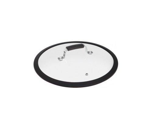 Стеклянная крышка с силиконовым ободом, 26 см NADOBA серия LOTA&10;