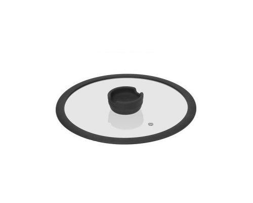 Стеклянная крышка с силиконовым ободом, 26 см NADOBA серия FINA
