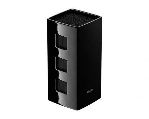 Универсальный керамический блок для ножей, чёрный NADOBA серия ESTA