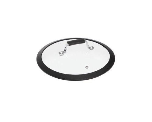 Стеклянная крышка с силиконовым ободом, 24 см NADOBA серия LOTA&10;
