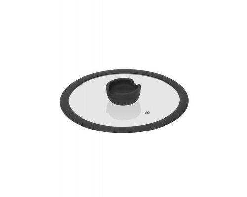 Стеклянная крышка с силиконовым ободом, 24 см NADOBA серия FINA