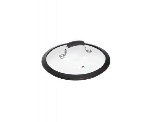 Стеклянная крышка с силиконовым ободом, 20 см NADOBA серия LOTA&10;