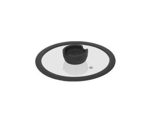 Стеклянная крышка с силиконовым ободом, 20 см NADOBA серия FINA