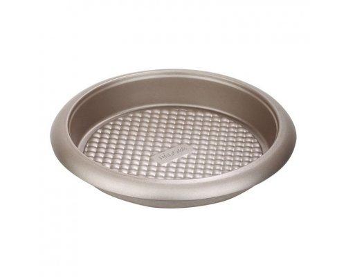 Форма для выпечки круглая, стальная, антипригарная, 26х3,7 см NADOBA серия RÁDA