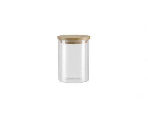 Ёмкость для сыпучих продуктов с крышкой из бамбука, 0,7 л NADOBA серия VILEMA