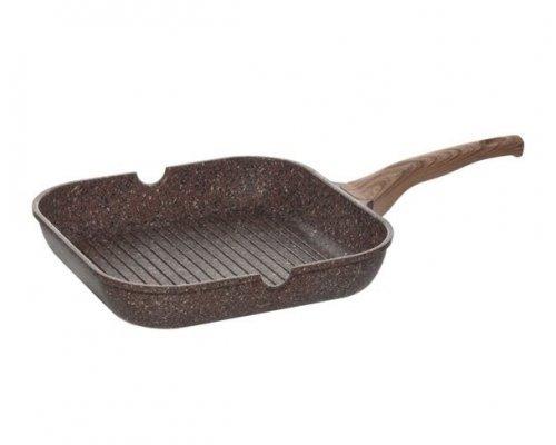 Сковорода-гриль с антипригарным покрытием, 28х28 см NADOBA серия GRETA