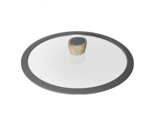 Стеклянная крышка с силиконовым ободом, 28 см, NADOBA серия MINERALICA